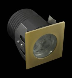 Deka Square Brass White LED