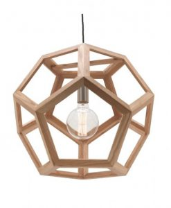 M-Peeta 75cm Extra Large Pendant Light Natural Timber Hexagon Mercator MG4231XL